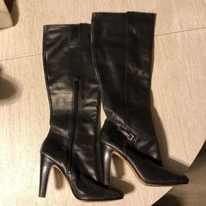 {Nine West} black leather boots size 9